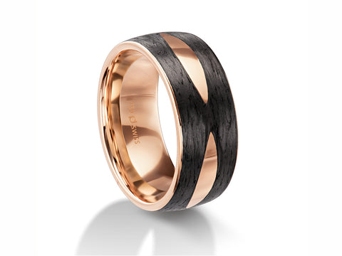 18K Yellow Gold and Palladium Men's Wedding Band