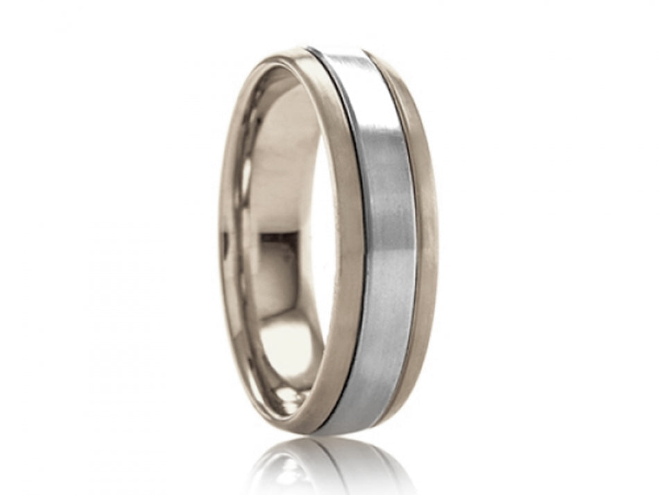 18k White Gold And Platinum Men S Wedding Band Www Igorman Com