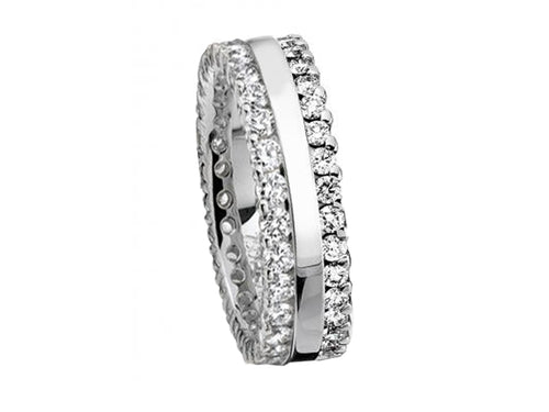 18K White Gold and Diamond Wedding Ring