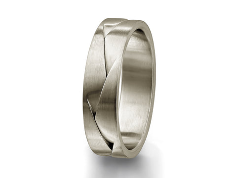 Platinum and 18K Rose Gold Men's Wedding Band