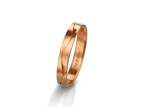 "18K Yellow Gold and Diamond Men's ""Filos"" Wedding Band"