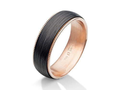 Furrer Jacot Carbon Fiber Mens Wedding Band