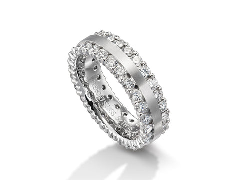 "18K White Gold ""Brinly"" Wedding Band"