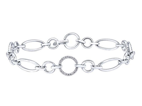 14K White Gold and Diamond Bracelet in Washington DC