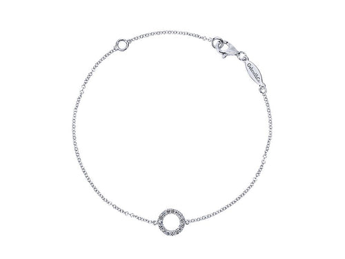 14K White Gold and Diamond Bracelet