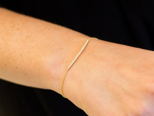 14K Yellow Gold and Diamond Bracelet in Washington DC