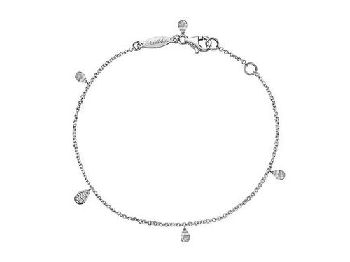 "14K White Gold and Diamond ""Mini Charm"" Bracelet at the Best Jewelry Store in Washington DC"