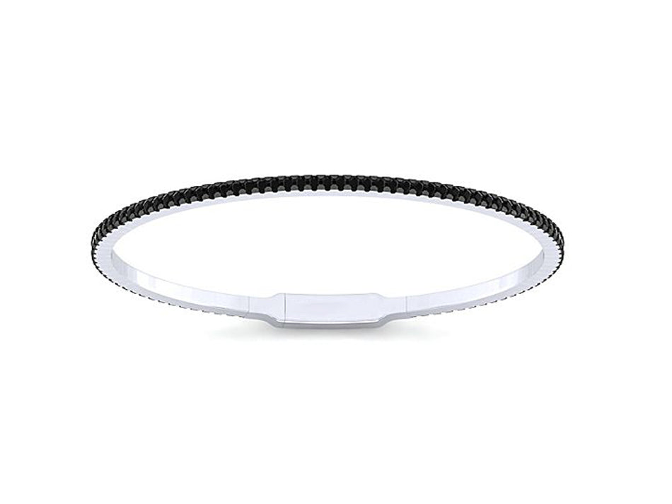 14K White Gold and Black Diamond Bangle Bracelet at the Best Jewelry Store in Washington DC