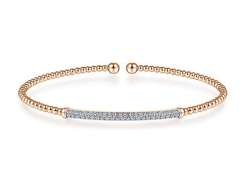 14K Rose Gold and Diamond Bracelet