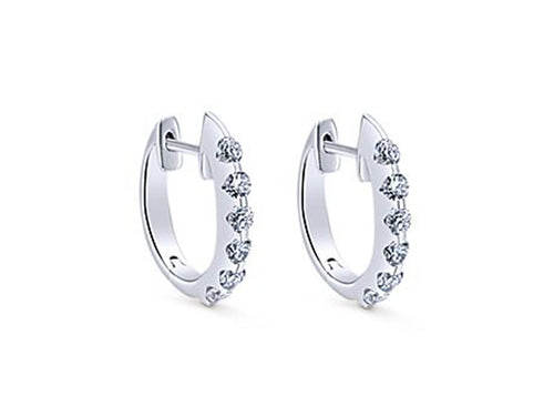 White Gold and Diamond Huggies at the Best Jewelry Store in Washington DC