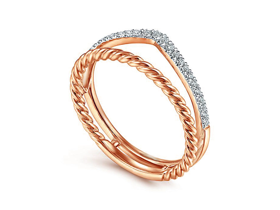 14K Rose Gold and Diamond Ring in Washington DC