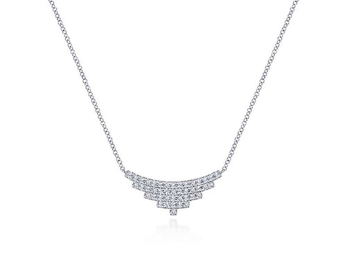 14K White Gold and Diamond Necklace at the Best Jewelry Store in Washington DC