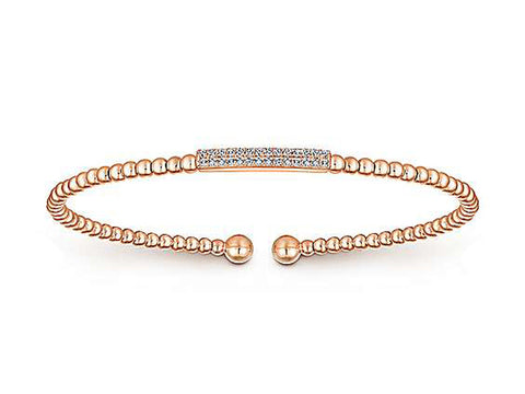 14K Yellow Gold and Diamond Bracelet