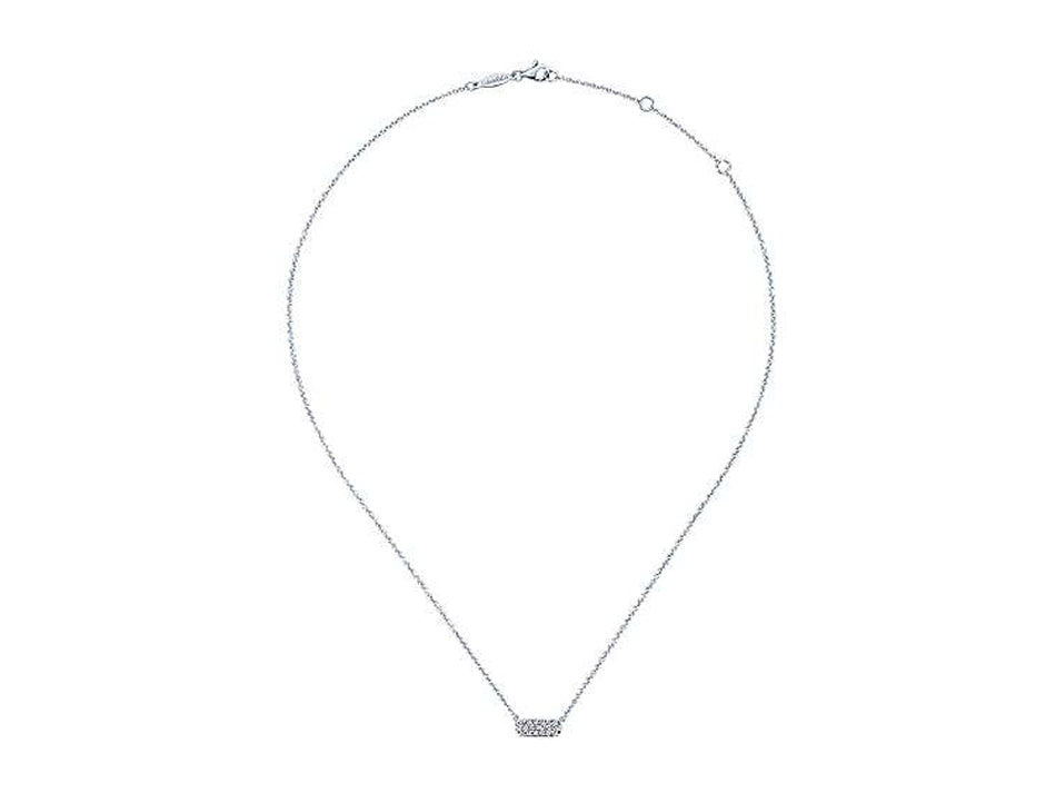 White Gold and Diamond Necklace at the Best Jewelry Store in Washington DC