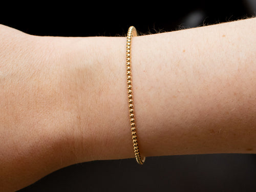 Stackable Gold Bangle