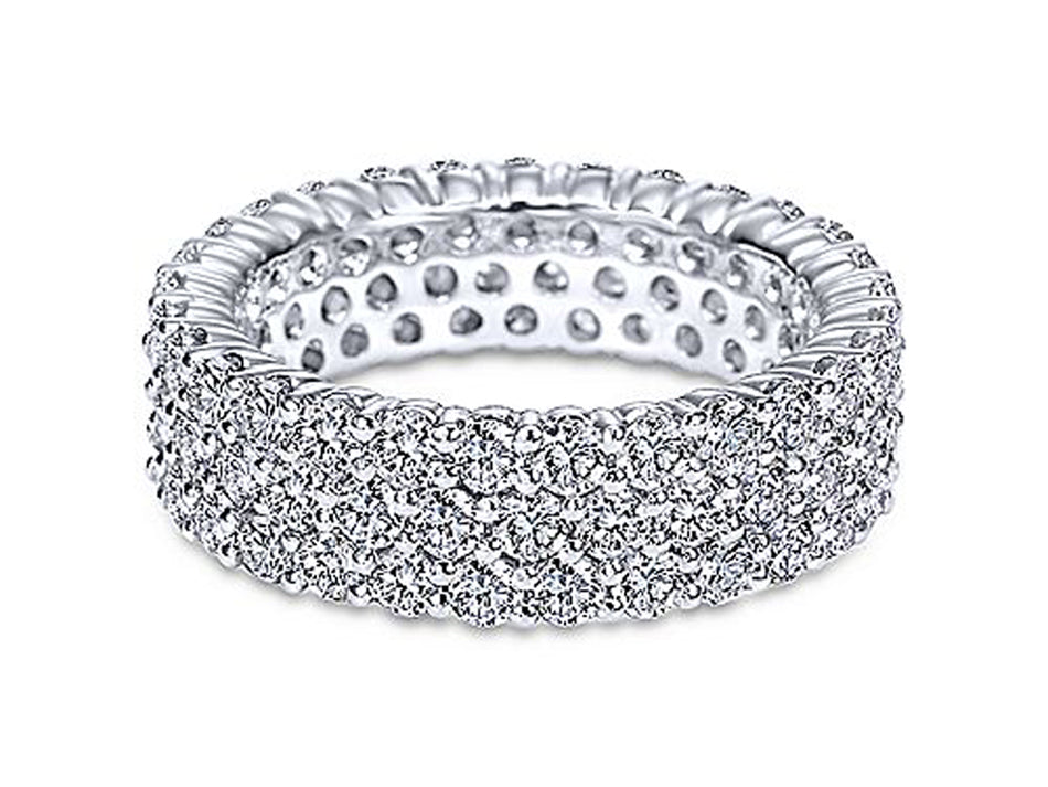 14K White Gold and Diamond Wedding Band at the Best Jewelry Store in Washington DC