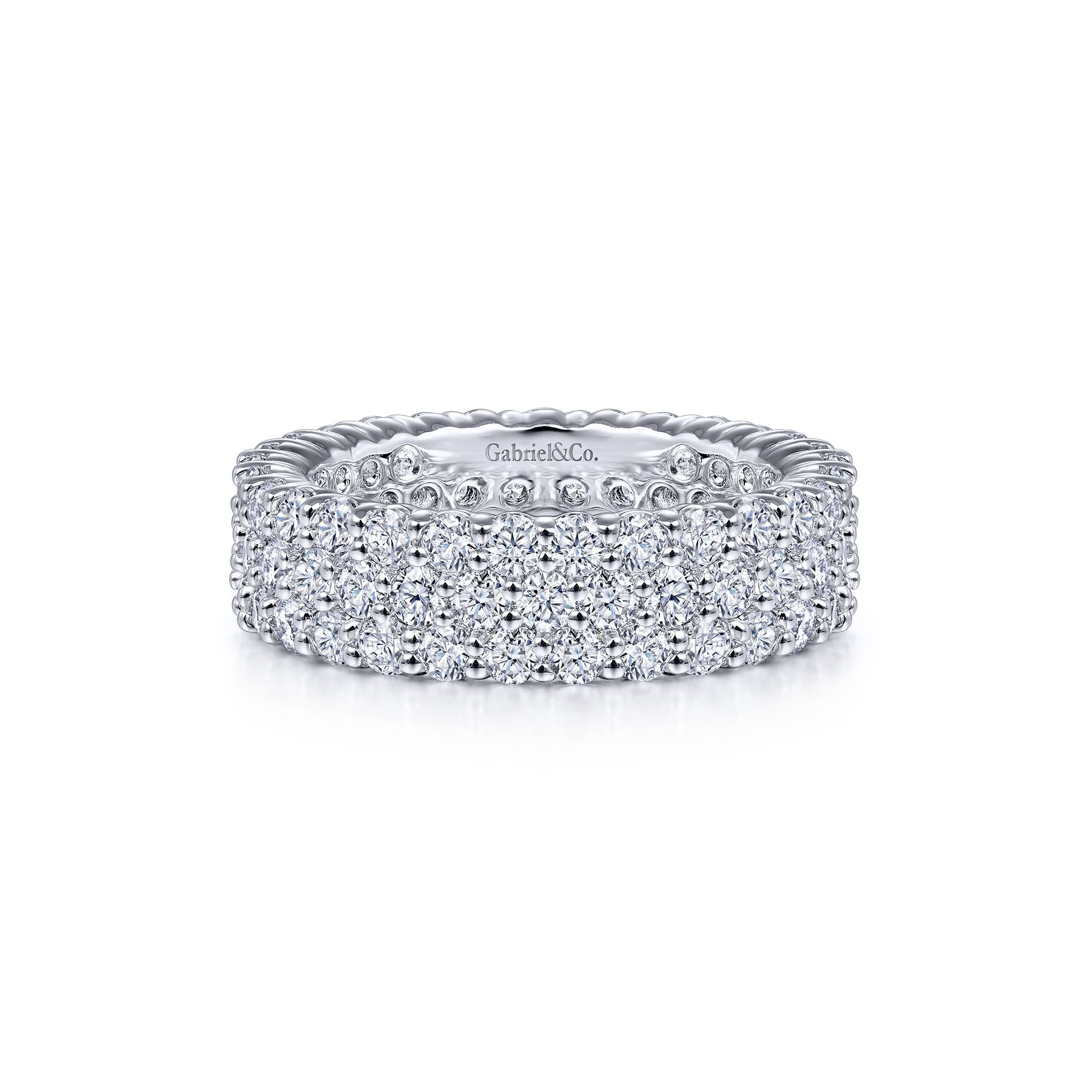 Pavé Diamond Eternity Band in White Gold