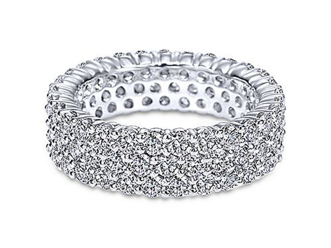 "White On White Diamond ""Bubble"" Wedding Band"