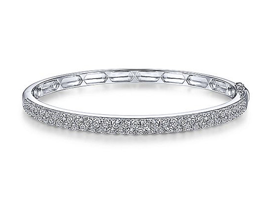 14K White Gold and Diamond Bangle Bracelet at the Best Jewelry Store in Washington DC