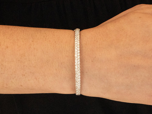 14K White Gold and Diamond Bangle Bracelet in Washington DC