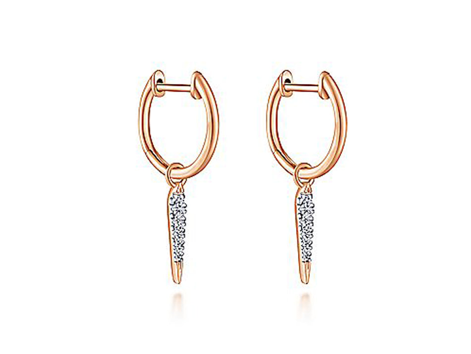 14K Rose Gold and Diamond Earrings in Washington DC