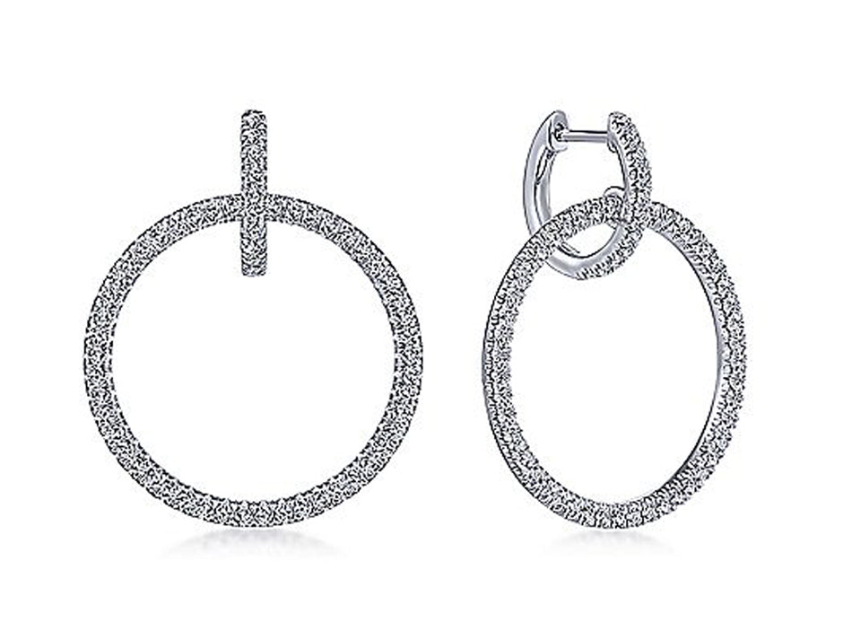 White Gold and Diamond Earrings at the Best Jewelry Store in Washington DC