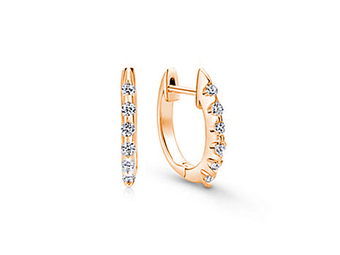 Petite Rose Gold Diamond Stud Earrings