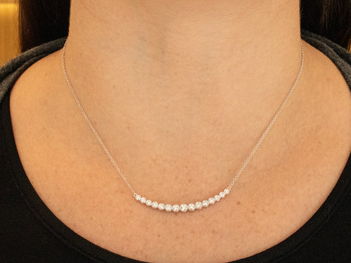 Simple White Gold and Diamond Necklace at the Best Jewelry Store in Washington DC