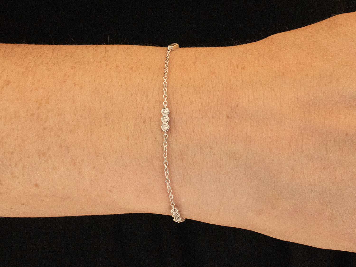 14K White Gold and Diamond Bracelet at the Best Jewelry Store in Washington DC
