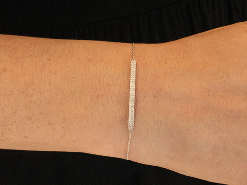 White Gold Pavé Diamond Bracelet