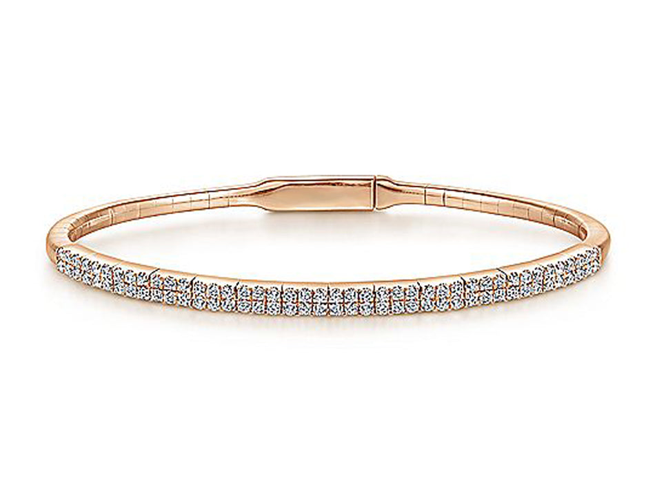 Simple Rose Gold and Diamond Bracelet at the Best Jewelry Store in Washington DC