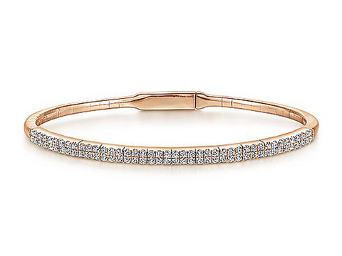18K Rose Gold and Diamond Bracelet