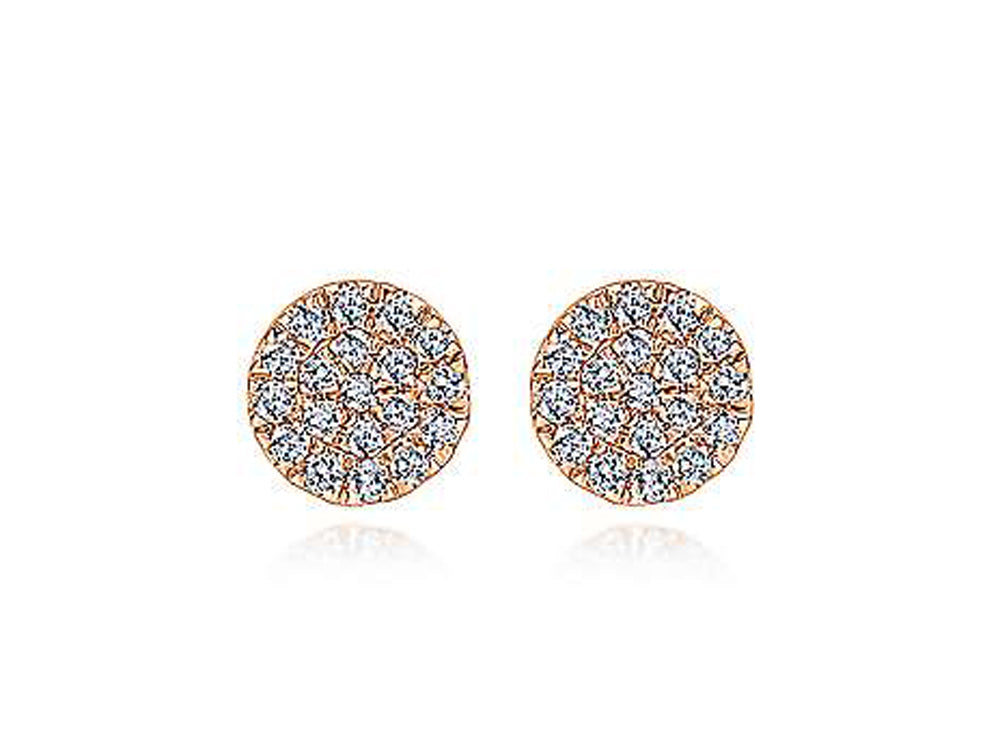 Simple Rose Gold and Diamond Stud Earrings at the Best Jewelry Store in Washington DC