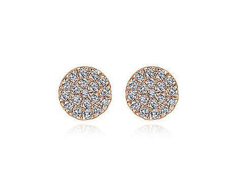 18K Yellow Gold and Sapphire Stud Earrings