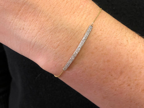 Yellow Gold Pavé Diamond Bracelet