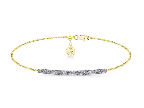 Yellow Gold Bezel Diamond Necklace