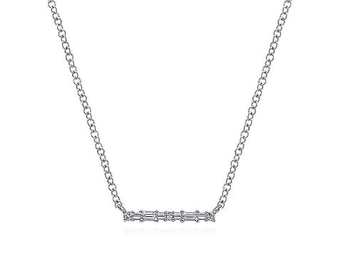 "Silver ""H2O Cluster"" Necklace"
