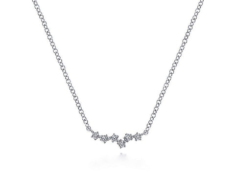 "Silver ""Falling Leaves"" Necklace"