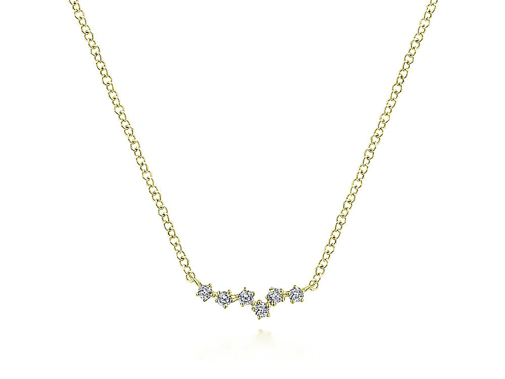 Diamond Constellation Necklace in Yellow Gold
