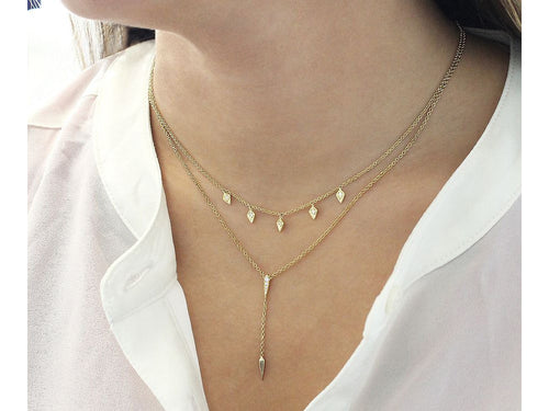 Petite Gold and Diamond Necklace