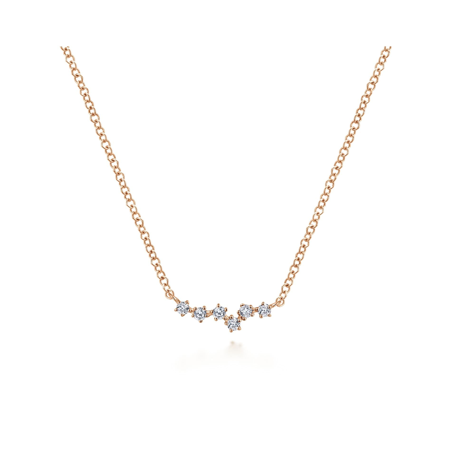 Diamond Constellation Necklace in Rose Gold