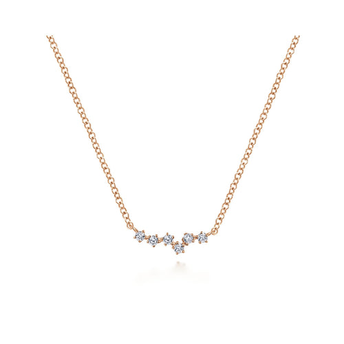 14K Rose Gold and Diamond Constellation Necklace