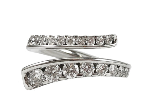 Palladium and Diamond Wedding Ring