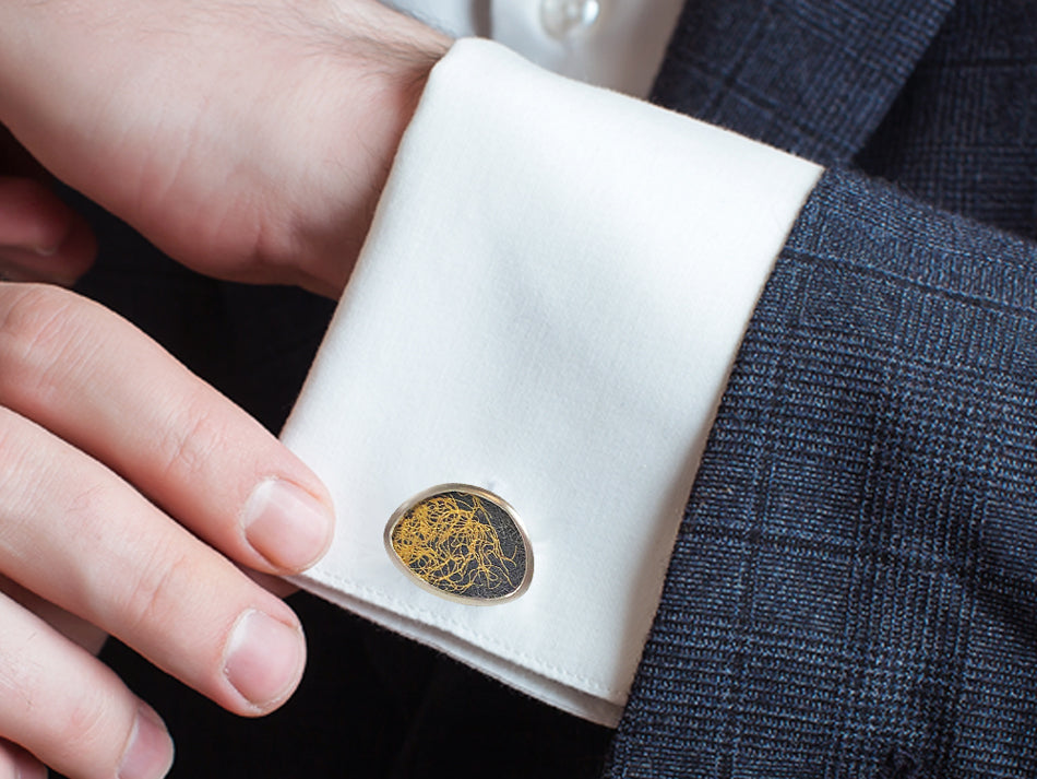 Silver and Gold Men's Cufflinks