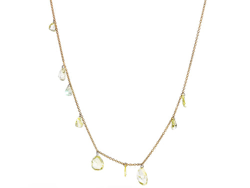 Free Set Pear Diamond Necklace