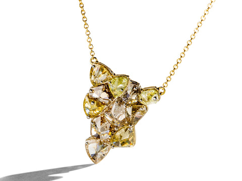 Gold Halo Diamond Necklace