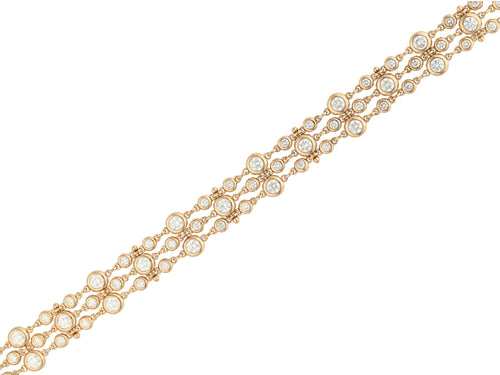 Rose Gold Diamond Tennis Bracelet at the Best Jewelry Store in Washington DC