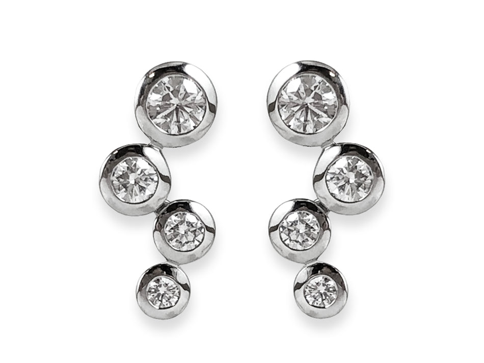 4 Stone Round Diamond Earrings at the Best Jewelry Store in Washington DC