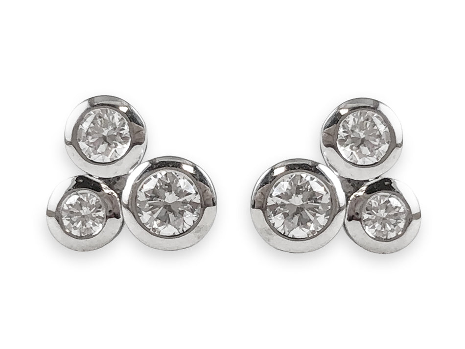White Gold Bubble Stud Earrings at the Best Jewelry Store in Washington DC
