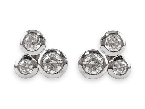 "Silver ""Falling Petals"" Earrings"